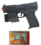 Black Spring Action Airsoft Gun & Laser and Flash Light