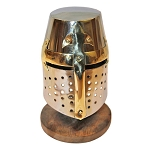 Miniature Brass Crusader Great Helmet Display Collectible