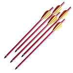 5 Pcs Rifle Crossbow Bolts 14 Inch Red Aluminum Hunting Arrows