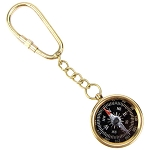 Brass Directional Pocket Compass Survival Gear Keychain Key Ring