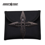 4 Inch Battle Damaged Throwing Star With Pouch