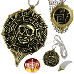 Pirate Medalion Coin Necklace With Hidden Knife