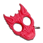 Pink Hard Plastic Demonic Knuckle Defense Keyring