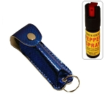 Snake Skin Pattern Personal Defense Pepper Spray OC-18 1/2 oz - Blue
