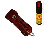 Snake Skin Pattern Personal Defense Pepper Spray OC-18 1/2 oz - Red