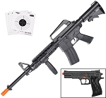 Colt M4 R.I.S Air Rifle & 1911 Colt Pistol Spring Airsoft Players Combo Pack