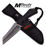 MTech USA Fixed Blade Military Style Tactical Chopper Knife Stone Wash