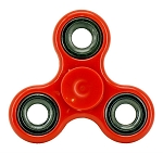 Stress Relief Hand Spinner and Spinning Tri Fidget High Speed Red