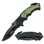 Spring Assist - 'Legal Auto Knife' - Military Fighter - Army Green