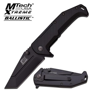 Mtech Spring Assist Tanto Every Day Carry Folding Pocket Knife Black