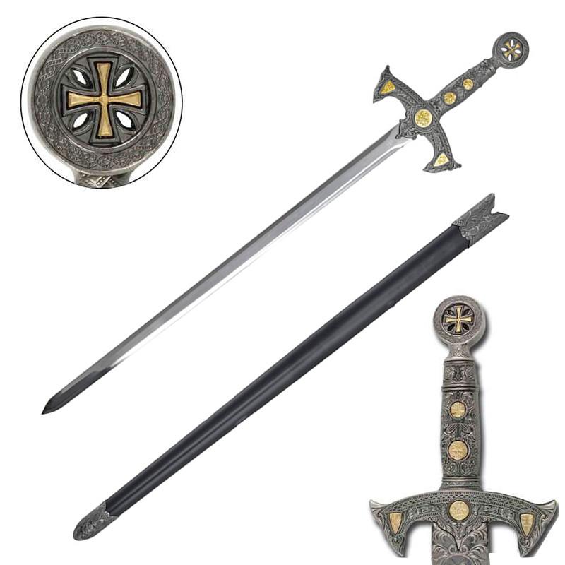 Medieval 12th Century Templar Knight Crusader Sword