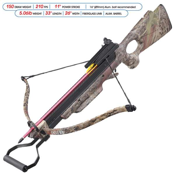 Recurve Wood Stock Rifle Crossbow