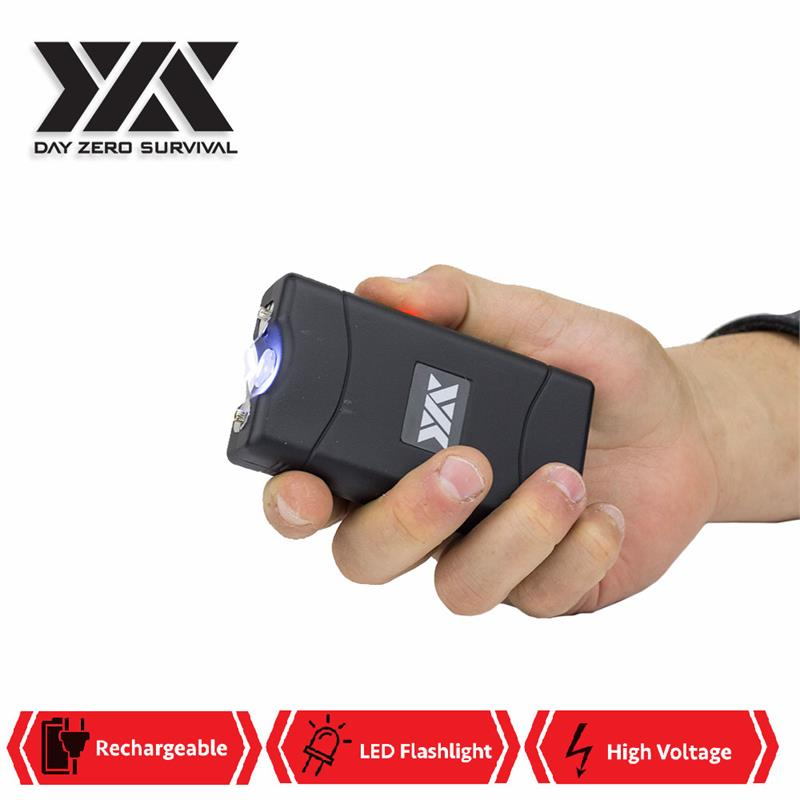 DZS 10 Million Volt Self Defense Stun Gun With Rechargeable LED FlashLight