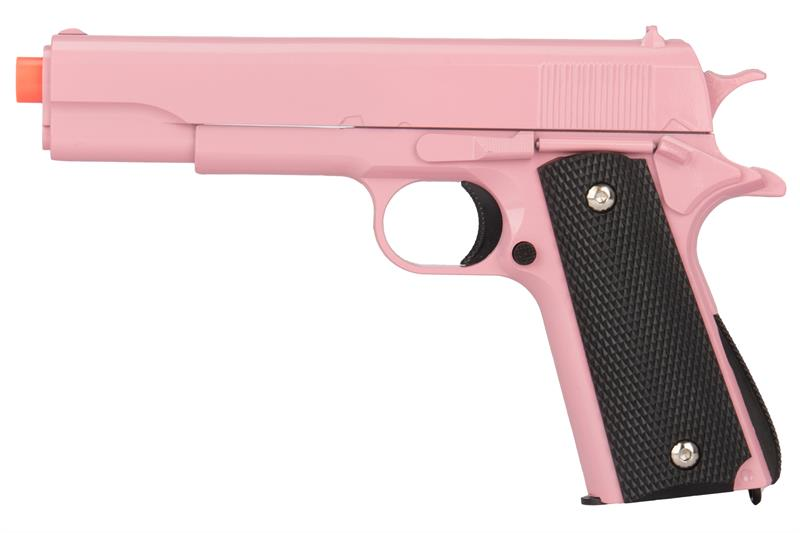 Replica full metal two tone pink airsoft spring pistol