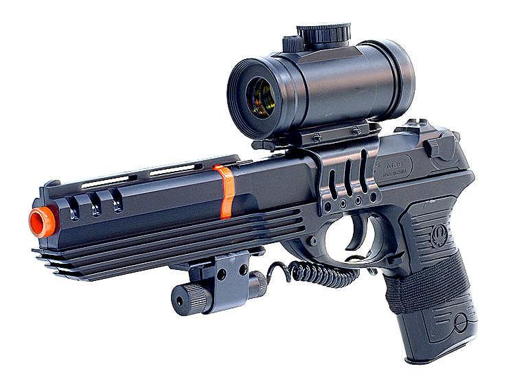 M39gl Airsoft Gun Pistol Hand Gun With Laser Red Dot Scope