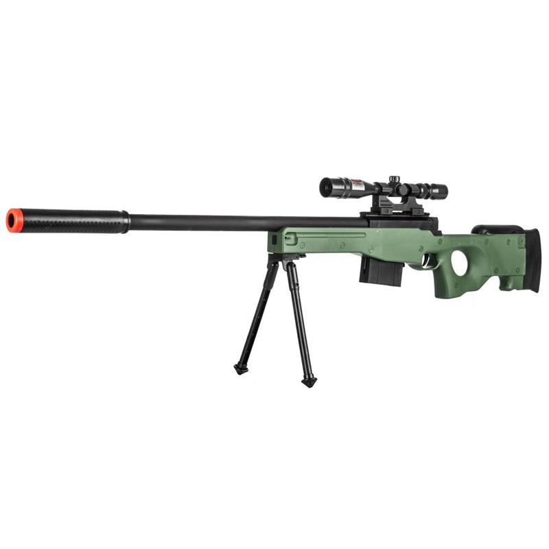Airsoft Sniper Rifle L96 Gun Mk13 Mod L96a1 Scope Bipod Bolt Action Tan