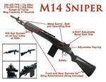 M160-A1 M14 M1 Garand Spring Airsoft Sniper Rifle Scale 1:1 Real Bolt Metal Core