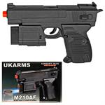M210AF Spring Airsoft Pistol FPS-130 w/ Flashlight, Laser
