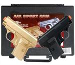 Gold and Black Dueling Set Airsoft Pistol Handguns Gun With Case