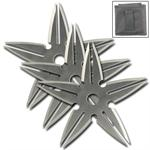 3 Pcs Spinning Moon Throwing Stars - Silver 4 Inch Diameter
