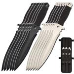 Light & Dark Throwing Knife 12 Piece Set With Pouch