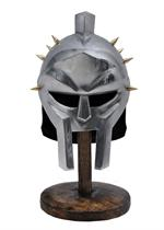 Miniature Roman Gladiator Helmet With Brass Spikes Includes Display Stand