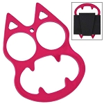 Flirty Fuchsia Cat Face Evil Mini Knuckle