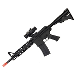 WELL D2802 M4 CQB RIS Electric Airsoft Gun Full Auto Rechargeable FPS-250