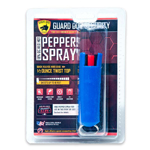 Blue Hard Case Personal Defense Pepper Spray Keychain With Belt Clip