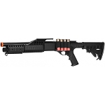 Airsoft Spring Powered Tactical Shotgun RIS with LE Stock