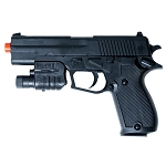 P2220 Spring Airsoft Pistol with Flashlight, Laser FPS-175