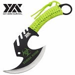 Zombie Killer Skullsplitter Throwing Axe - Day Zero Survival Green