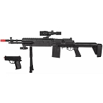 P1114 Spring Airsoft Rifle and P618 Pistol Gun Combo