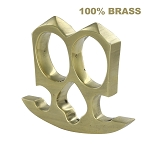 Two Finger Double Knuckle Pure Brass Novelty Paper Weight Knuckleduster