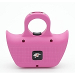 Mini Jogger Pink Sting Ring Self Defense Rechargeable Stun Gun with Whistle