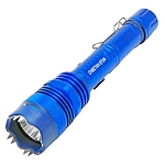 Defender 10 Million Volt Tactical Flashlight Stun Gun Rechargeable All Metal Blue