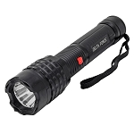 Delta Force BLACK Stun Gun 10 Million Volt Rechargeable LED Flashlight