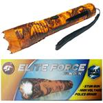 ELITE FORCE Stun Gun 10 Million Volt Rechargeable LED Flashlight Orange Camo