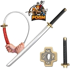 WarFoam Foam Fantasy Samurai Katana Sword Chrome Finish Blade Cosplay Costume LARP