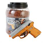 ProjectZ 14,000Ct 0.12g 6MM Metalic Orange BBs BONUS Spring Pistol