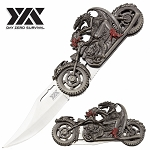 Biker Fantasy Folding Knife Dragon With Women Motorcycle Gift Collectible