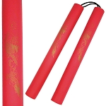 Nunchaku - Foam Padded Corded Red Dragon Nunchucks
