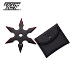 4 Inches 6 Point Throwing Stars With Red Grind Line