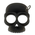 Two Finger Black Self Defense Skull Knuckle Keychain