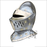 Royal Guard Close Helm Medieval Crusader Knight Steel Helmet
