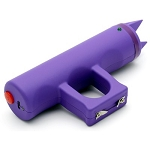 Jogger Spiked Defensive Knuckle Stun Gun USB Rechargeable With Alarm