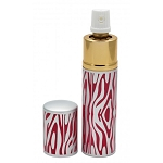 Pink Zebra Print Lipstick Pepper Spray Women Discreet For Self Defense