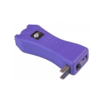 Slim Max Power Purple Stun Gun Mini Rechargeable, LED Light & Case