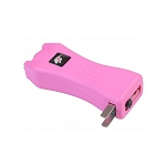 Slim Max Power Pink Stun Gun Mini Rechargeable, LED Light & Case