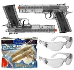 Colt 1911 Buddy Pack Spring Powered Airsoft Pistol Set Safety Glasses